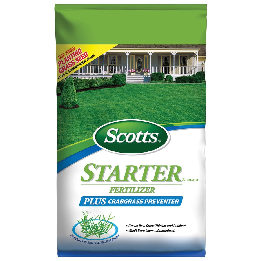 Scotts 5,000-sq ft Starter Plus Crabgrass Preventer Lawn Fertilizer (18-23-4)
