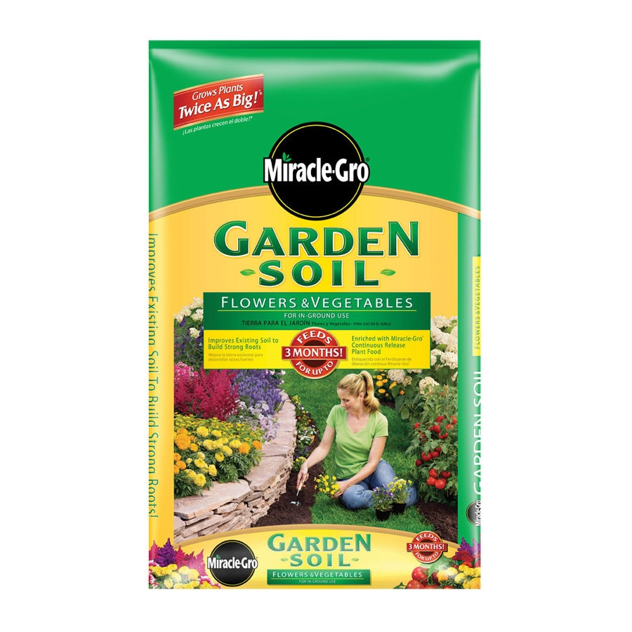 Shop miracle gro 1 cu ft flower and vegetable garden soil for Vegetable garden fertilizer