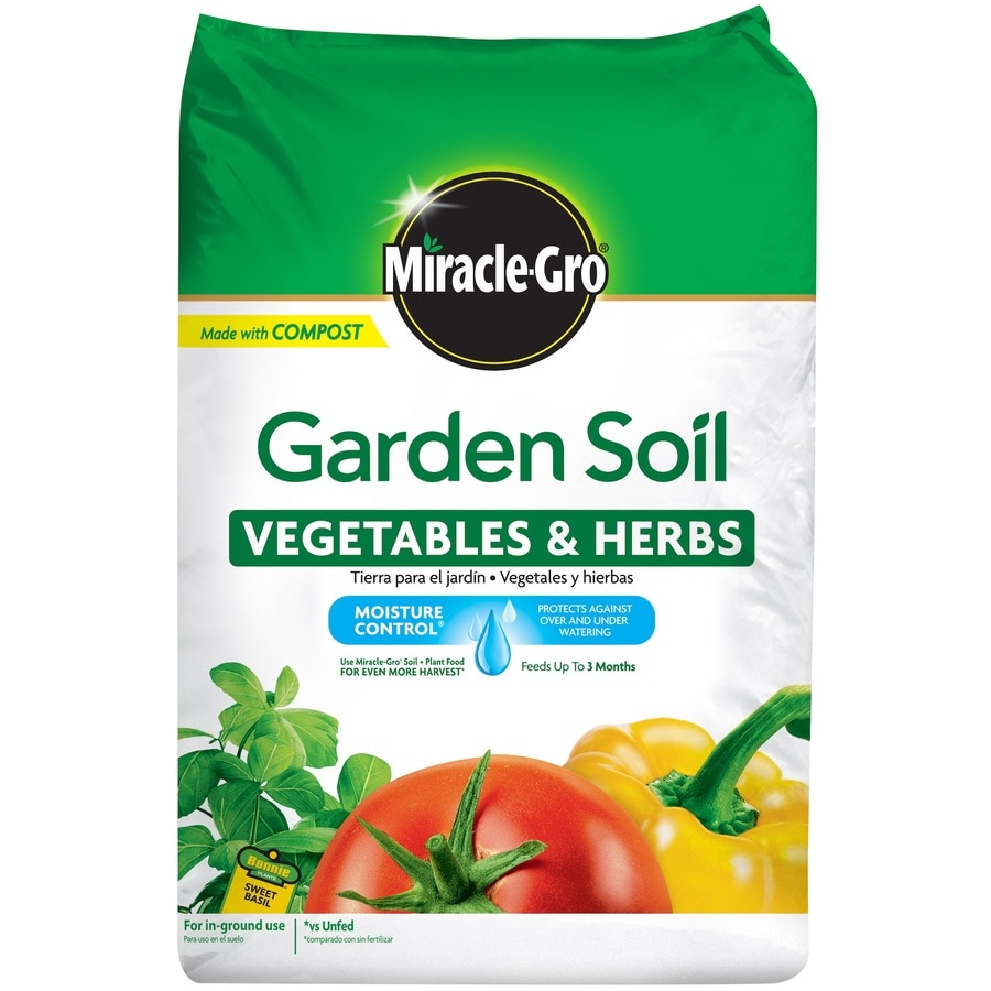 Shop miracle gro 1 5 cu ft garden mix at for Garden topsoil