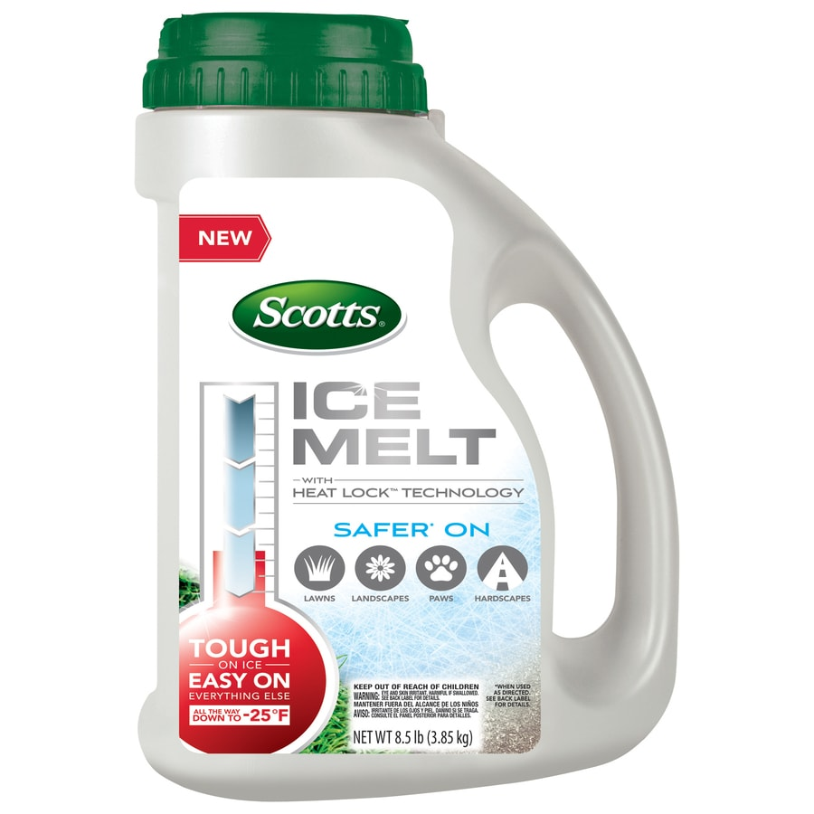 shop scotts ice melt with heat lock technology at lowes com