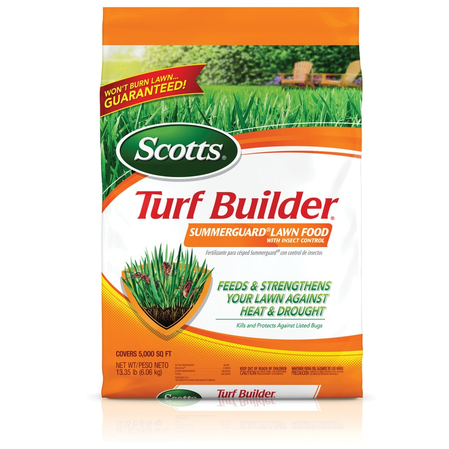 Scotts 5,000-sq ft Turf Builder Summerguard Lawn Food with Insect Control Lawn Fertilizer (20-0-8)