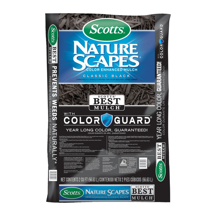 Scotts Nature Scapes Color Enhanced 2-cu ft Black Mulch