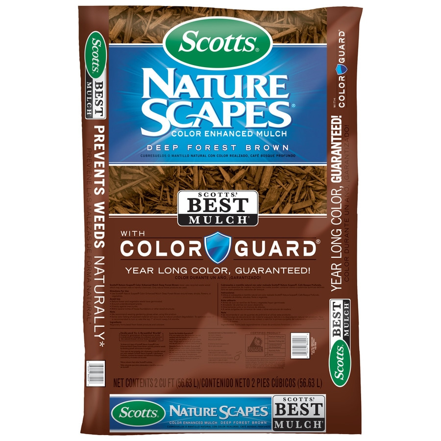 Scotts Nature Scapes Color Enhanced 2 Cu Ft Deep Forest Brown Mulch