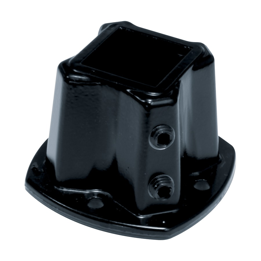 Shop gilpin black aluminum flange handrail brackets at for 1 inch square floor flange
