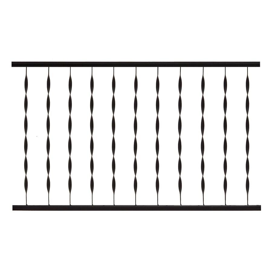 Gilpin (Actual: 1.25-in x 28-in x 4-ft) Windsor Plus Black Metal Deck Universal Rail