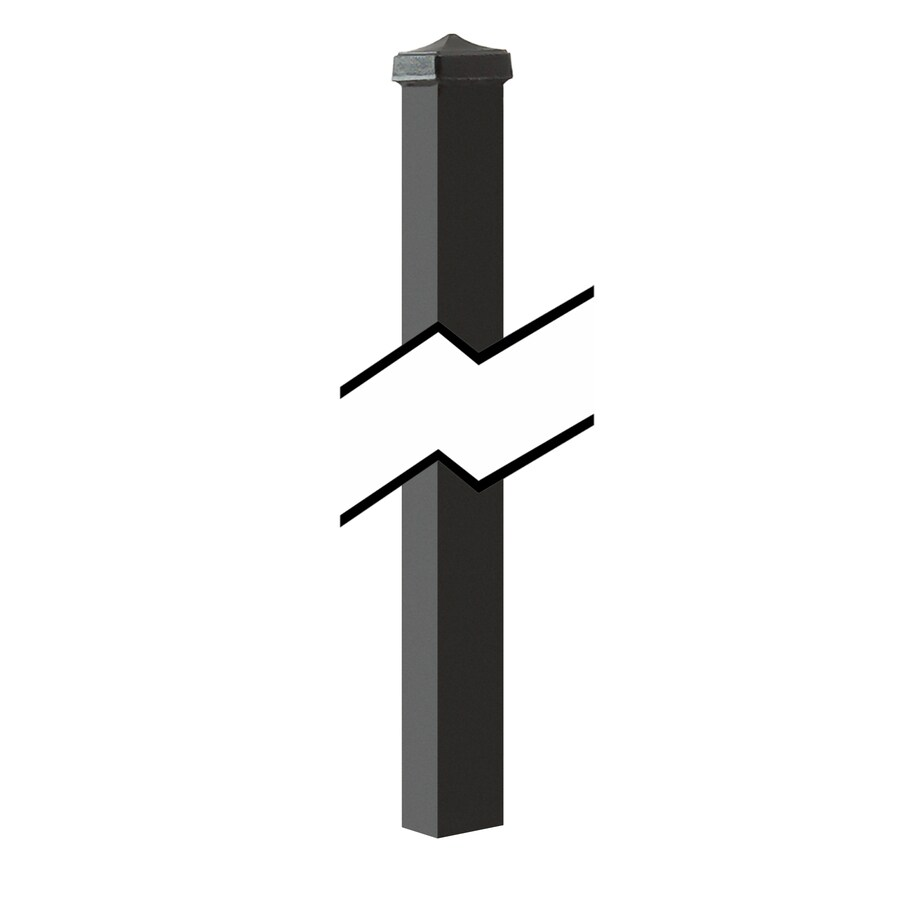 Gilpin (Common: 1-1/2-in x 1-1/2-in x 3-1/2-ft; Actual: 1.5-in x 1.5-in x 5.50-ft) Black Steel Universal Post