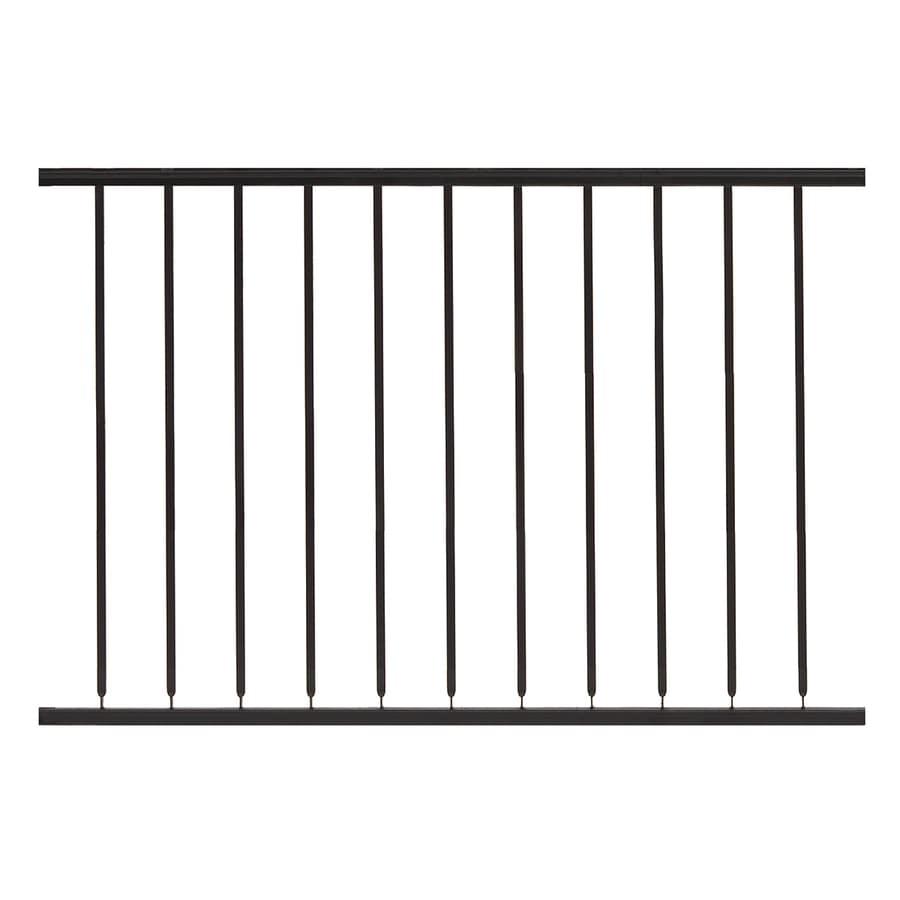 Gilpin Hampton 48-in x 32-in Black Steel Porch Railing