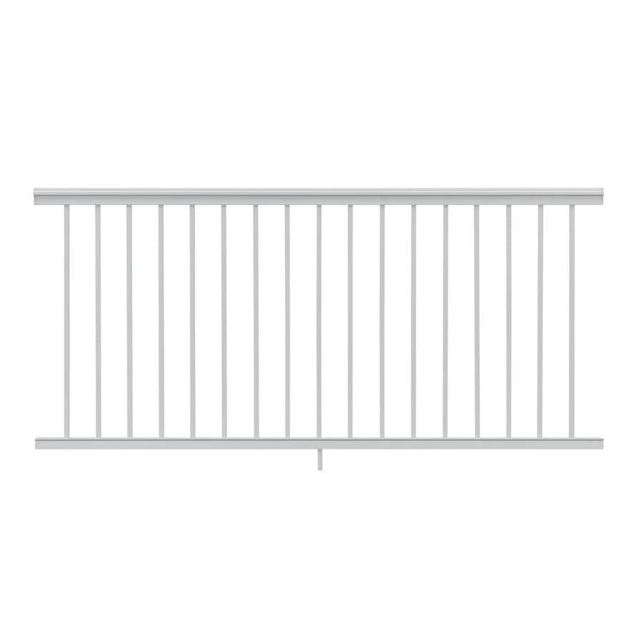 Gilpin (Actual: 2.5-in x 33-in x 6-ft) Summit White Aluminum Deck Universal Rail