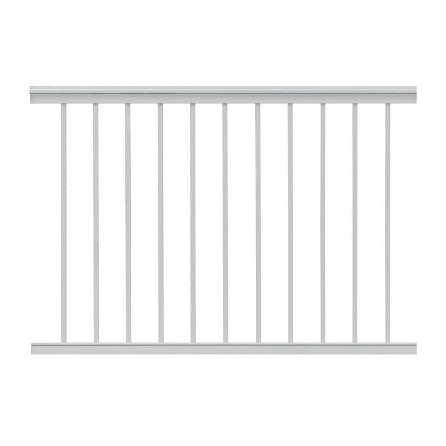 Gilpin (Actual: 2.5-in x 39-in x 4-ft) Summit White Aluminum Deck Universal Rail