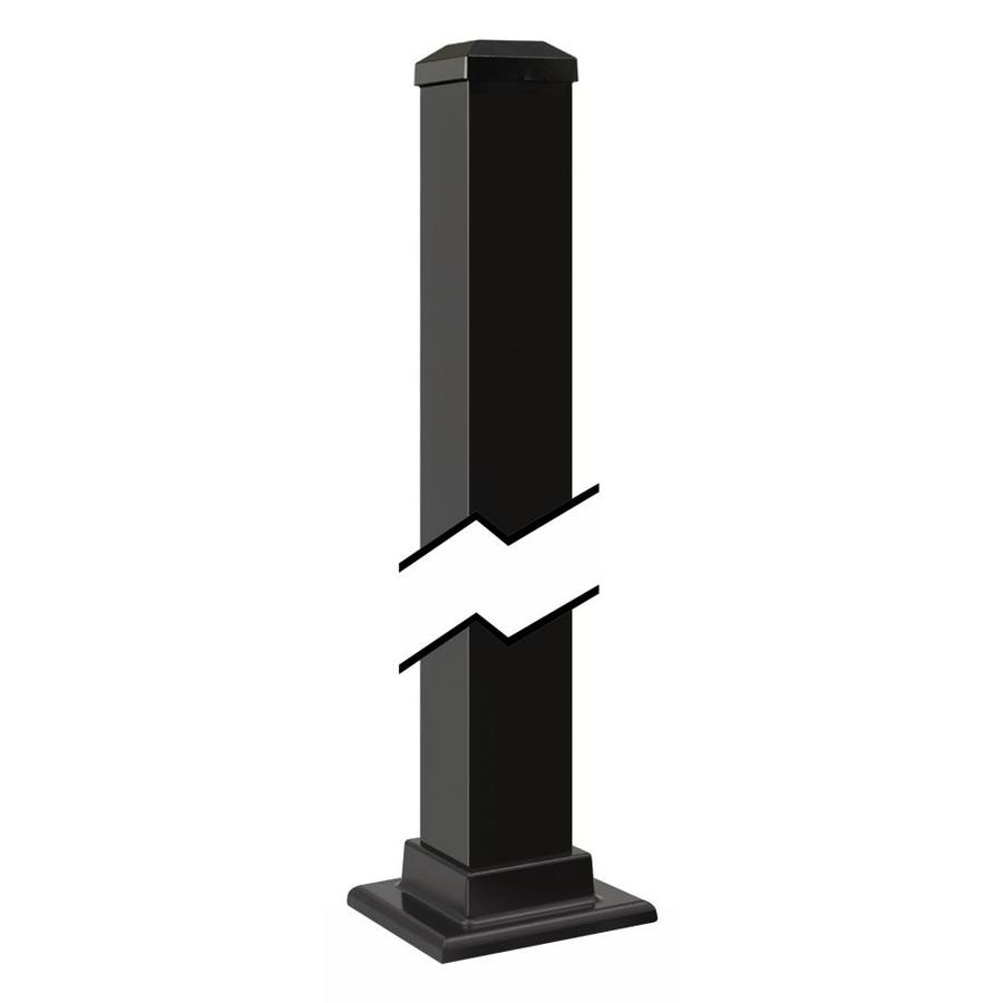 Gilpin (Actual: 2.5-in x 2.5-in x 3-ft) Summit Black Aluminum Deck Post