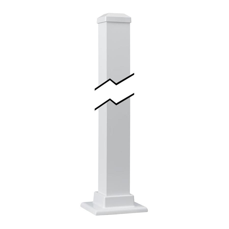 Gilpin (Actual: 2.5-in x 2.5-in x 3.5-ft) Summit White Aluminum Deck Post
