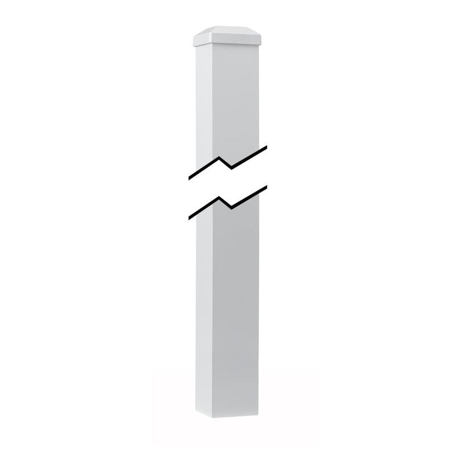 Gilpin White Aluminum Porch Post