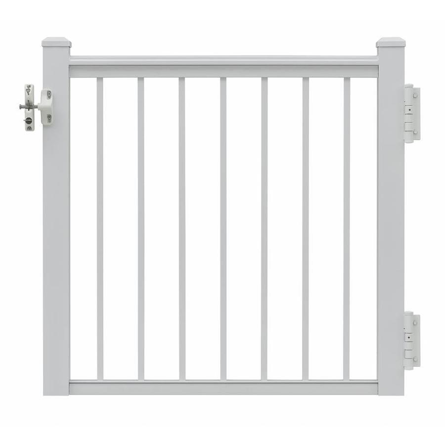 Gilpin Summit 35-in W x 33-in H Aluminum Porch Railing Gate