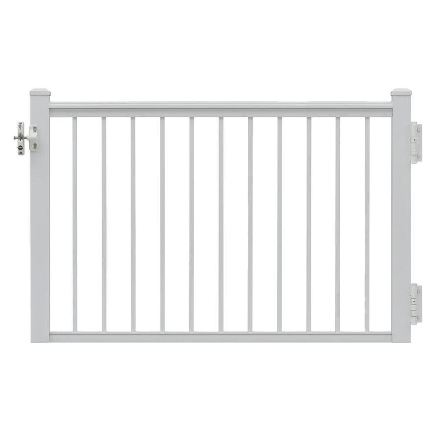 Gilpin Summit 47-in W x 45-in H Aluminum Porch Railing Gate