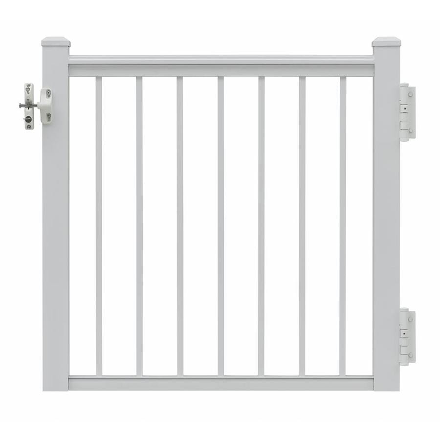 Gilpin Summit 35-in W x 33-in H Aluminum Porch Railing Gate