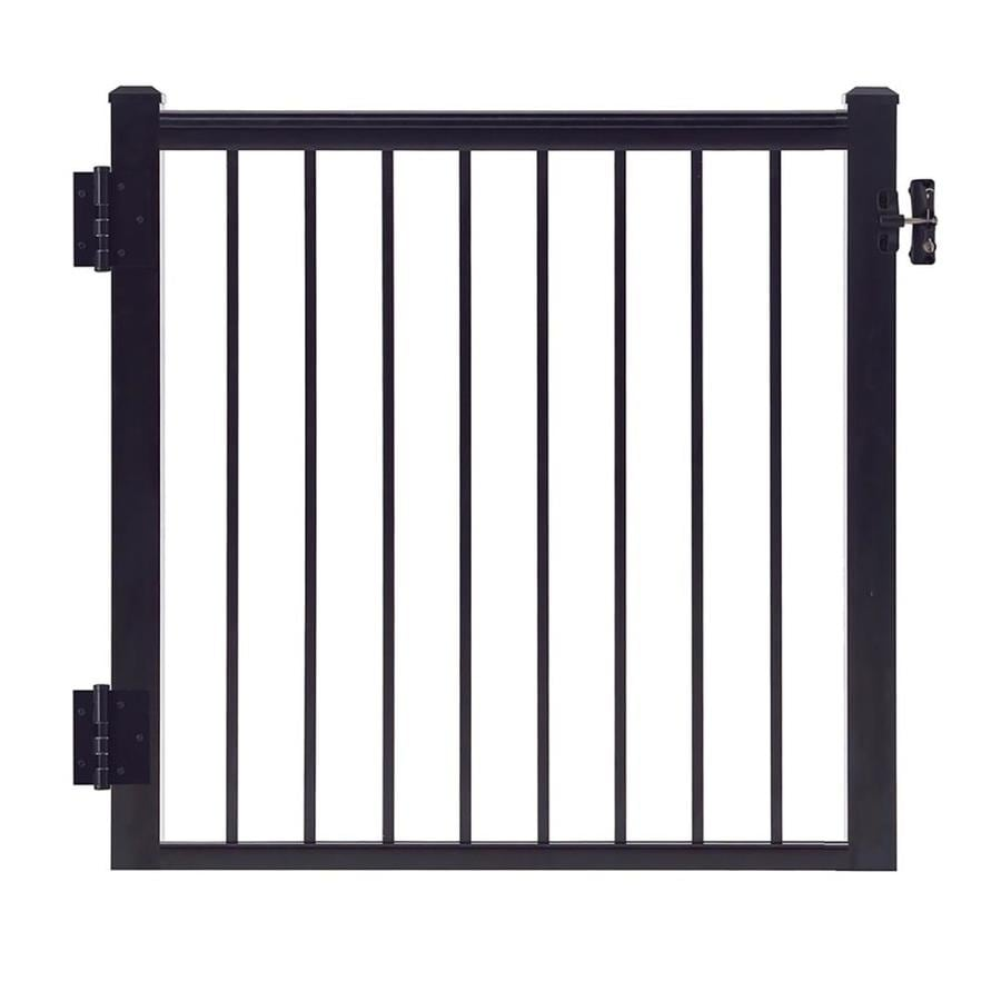 Gilpin Summit 35-in W x 33-in H Aluminum Deck Railing Gate