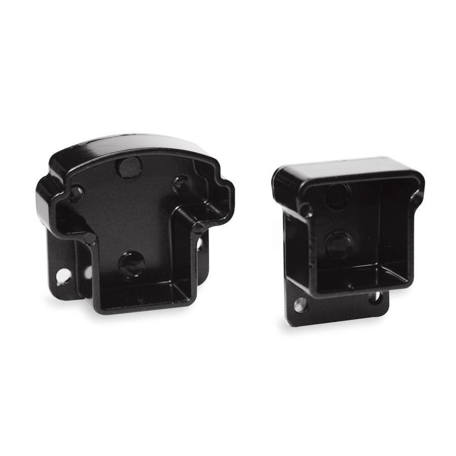 Gilpin 4-Pack Black Aluminum End Post Handrail Brackets