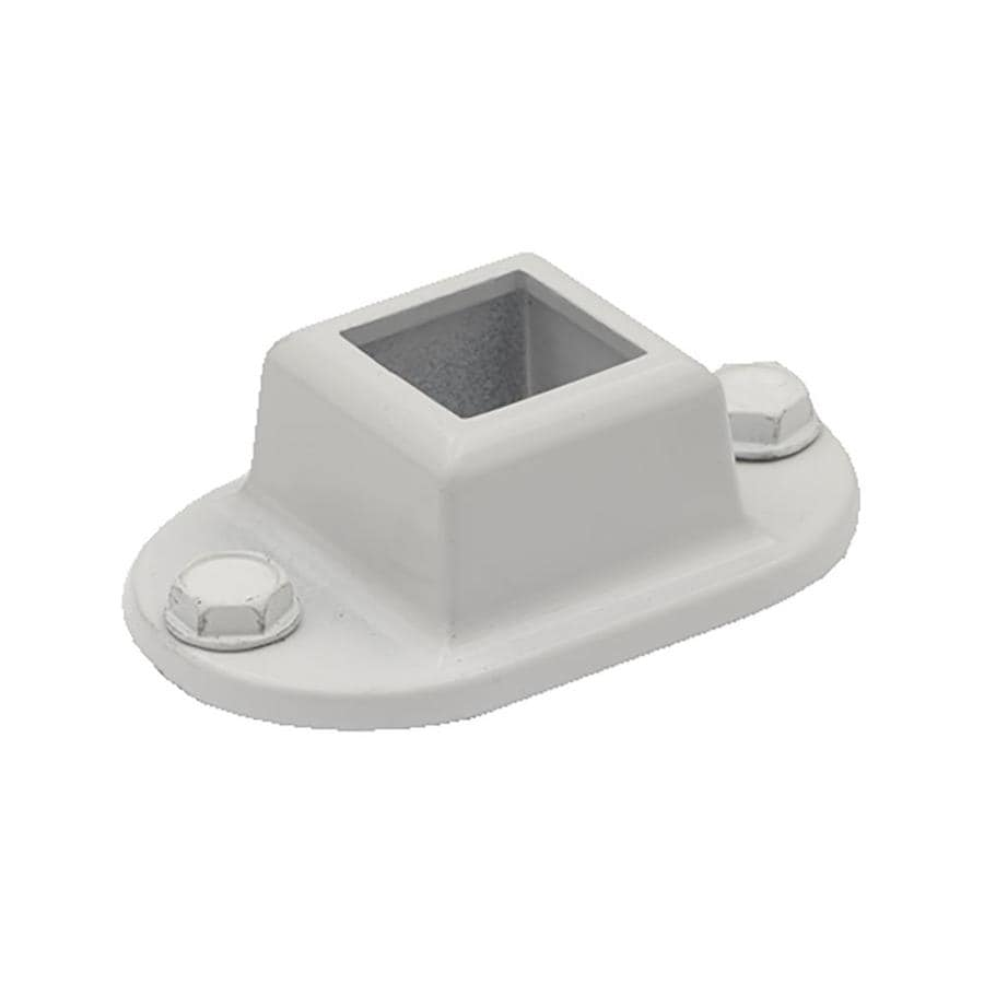 Gilpin White Aluminum Flange Handrail Brackets