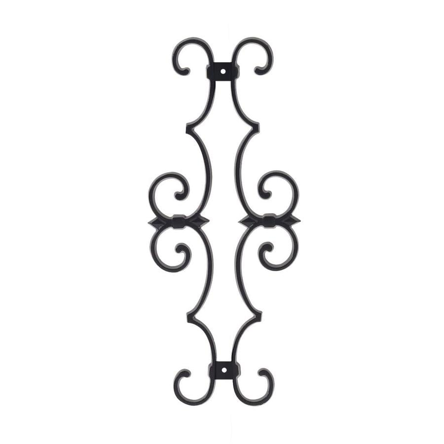 Gilpin Summit Black Aluminum Estate Scroll Porch Railing Accents