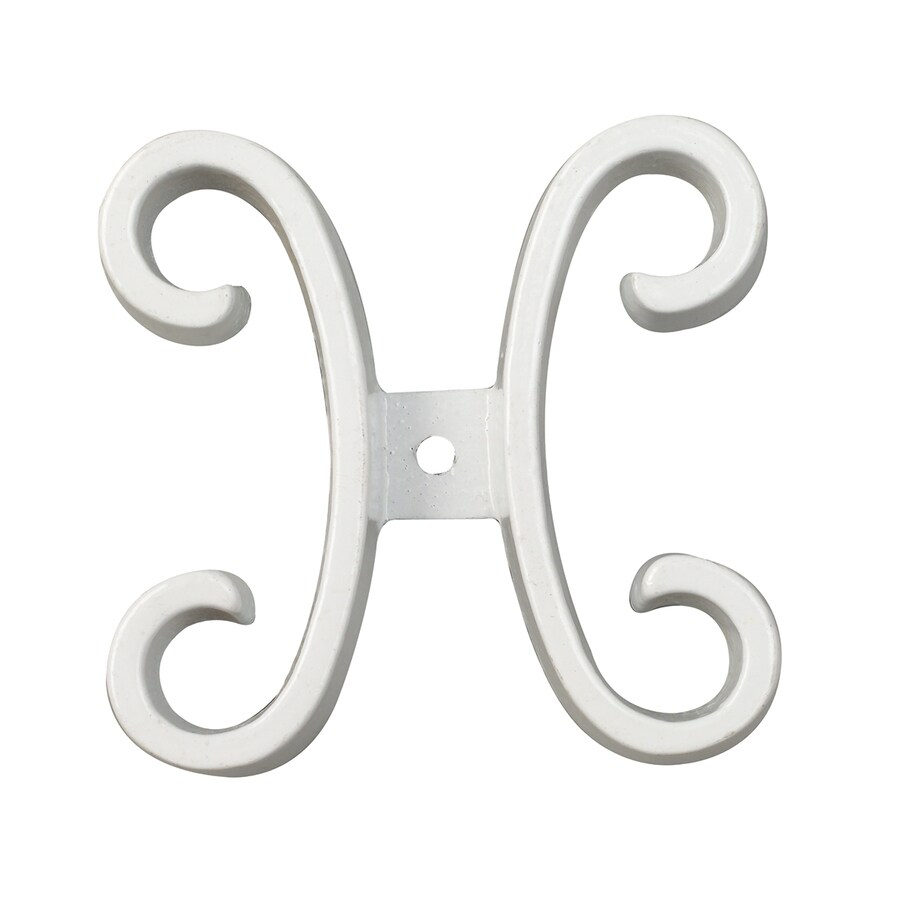 Gilpin Summit White Aluminum Butterfly Scroll Porch Railing Accents