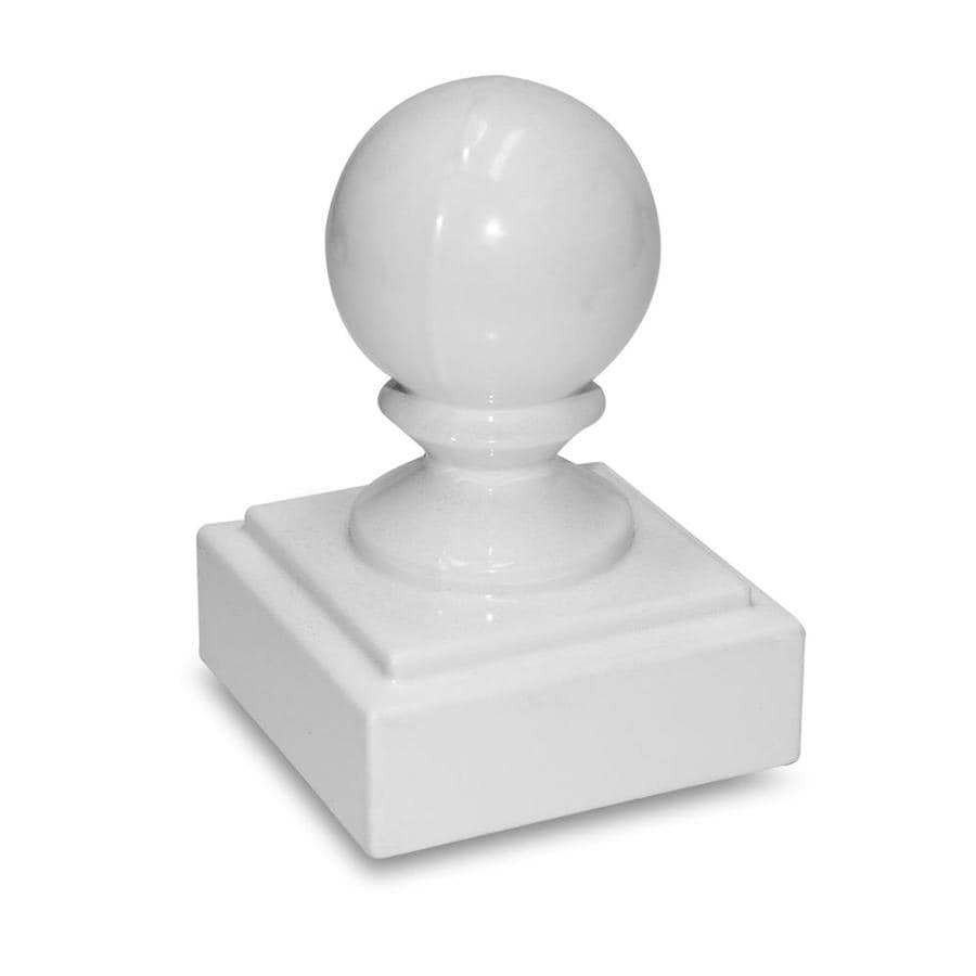 Gilpin Summit White Aluminum Deck Post Cap