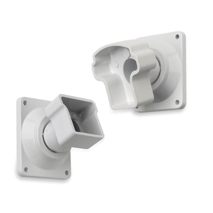 Gilpin 4-Pack White Aluminum Swivel Handrail Brackets