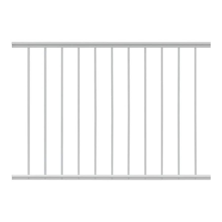 Gilpin Midway 48-in x 33-in White Aluminum Porch Railing