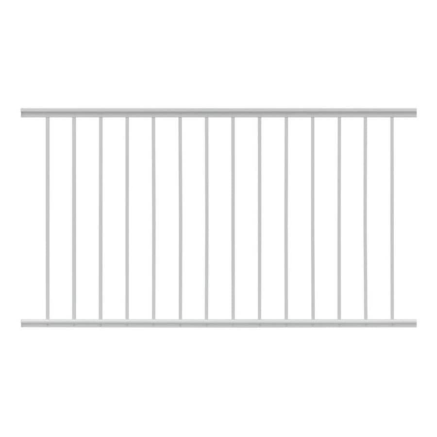 Gilpin Midway 60-in x 33-in White Aluminum Porch Railing