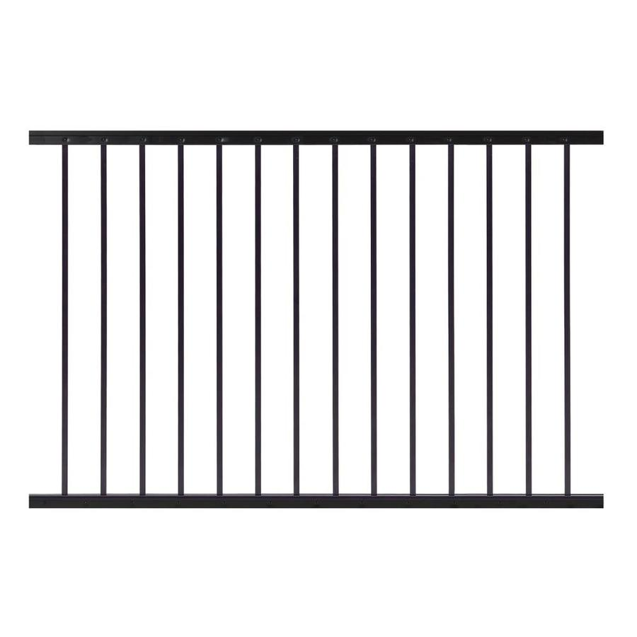 Gilpin (Actual: 1.5-in x 33-in x 5-ft) Midway Black Aluminum Deck Universal Rail