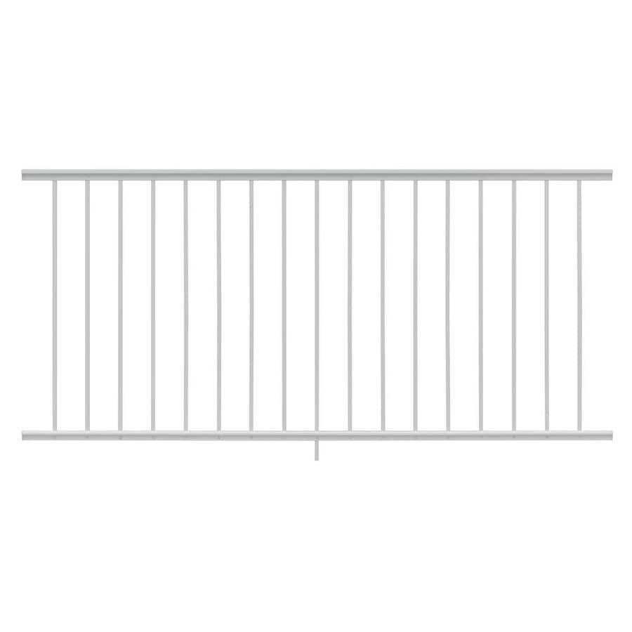 Gilpin Midway 72-in x 33-in White Aluminum Porch Railing