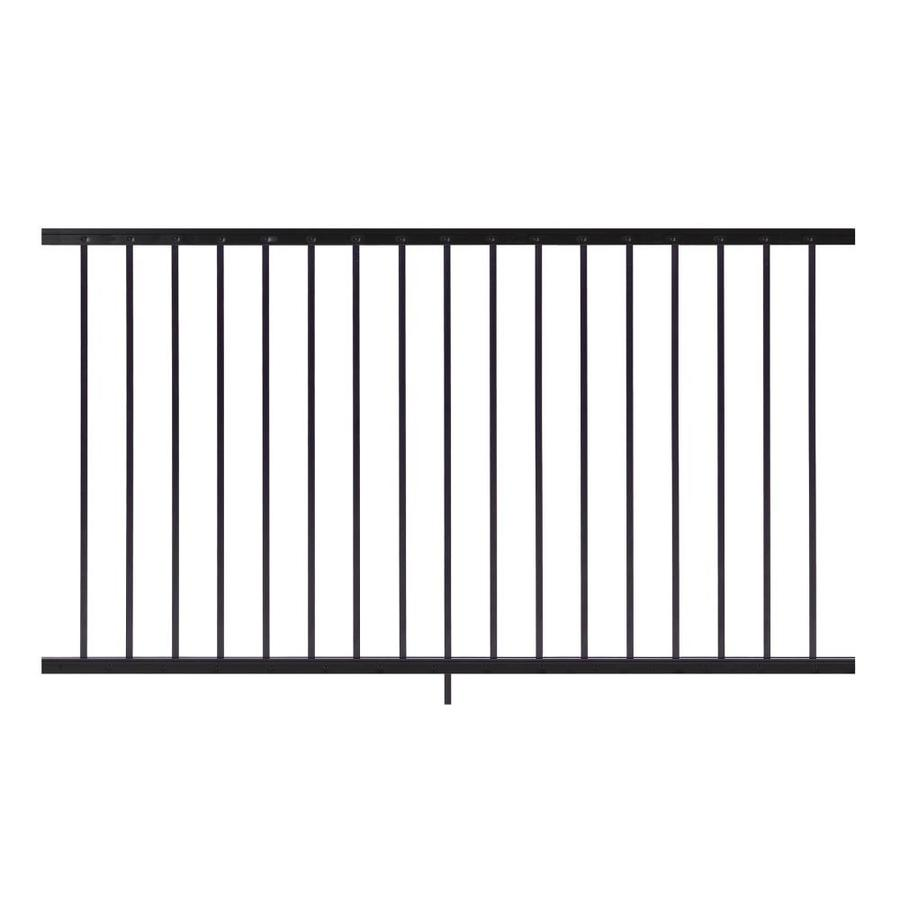 Gilpin Midway 72-in x 33-in Black Aluminum Porch Railing