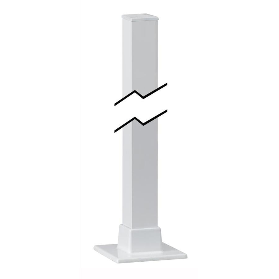 Gilpin (Actual: 1.5-in x 1.5-in x 3.5-ft) Midway White Aluminum Deck Post