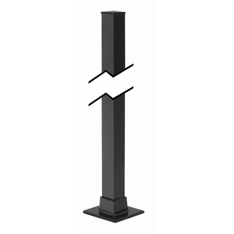 Gilpin (Actual: 1.5-in x 1.5-in x 3.5-ft) Midway Black Aluminum Deck Post