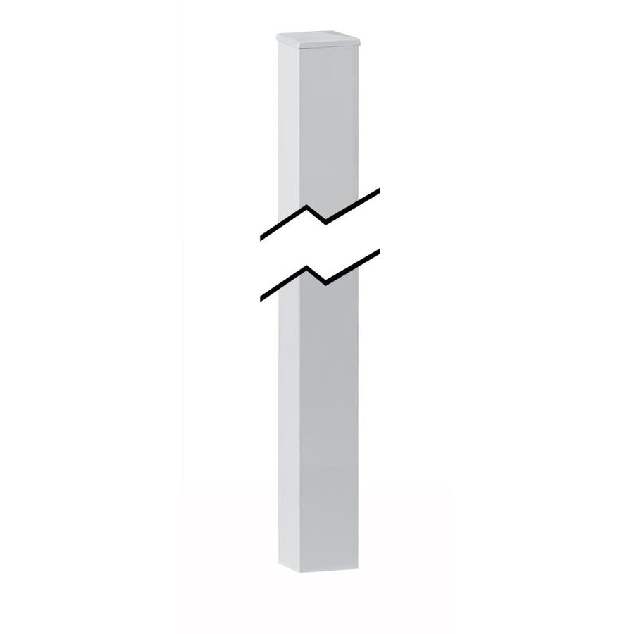 Gilpin (Actual: 1.5-in x 1.5-in x 5.5-ft) Midway White Aluminum Deck Post