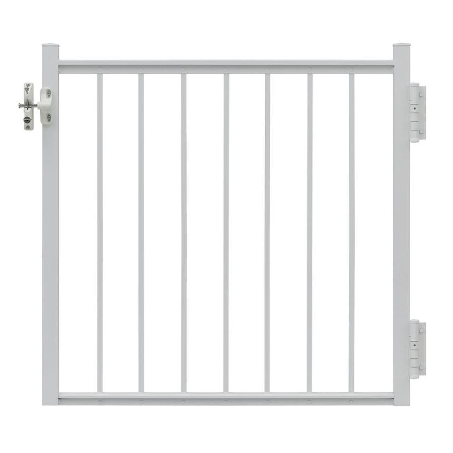 Gilpin Midway 35-in W x 33-in H Aluminum Porch Railing Gate