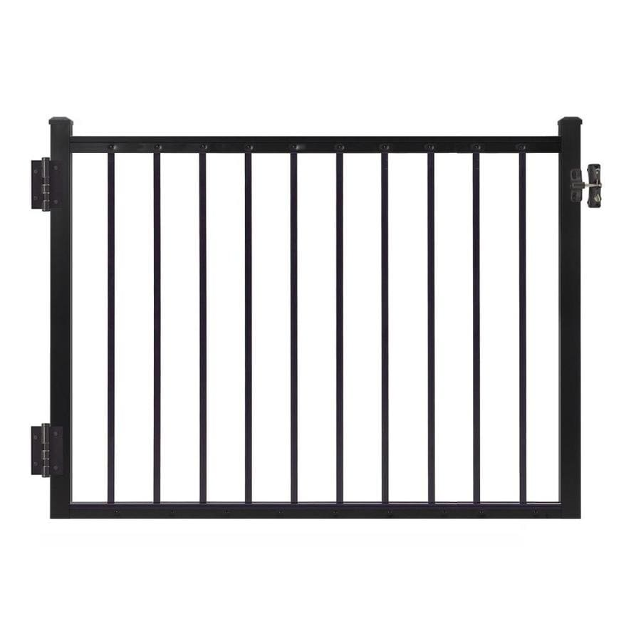 Gilpin Midway 47-in W x 45-in H Aluminum Porch Railing Gate