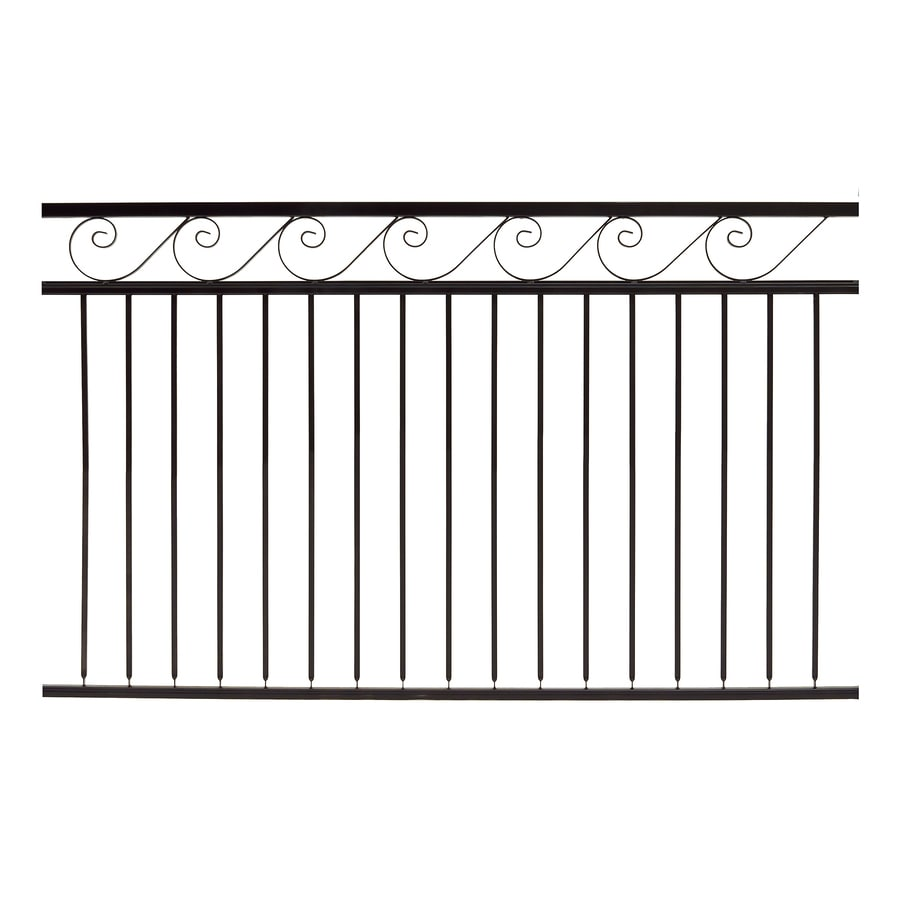 Gilpin (Common: 4-ft x 6-ft; Actual: 3.75-ft x 6-ft) Oasis Black Steel Decorative Fence Panel