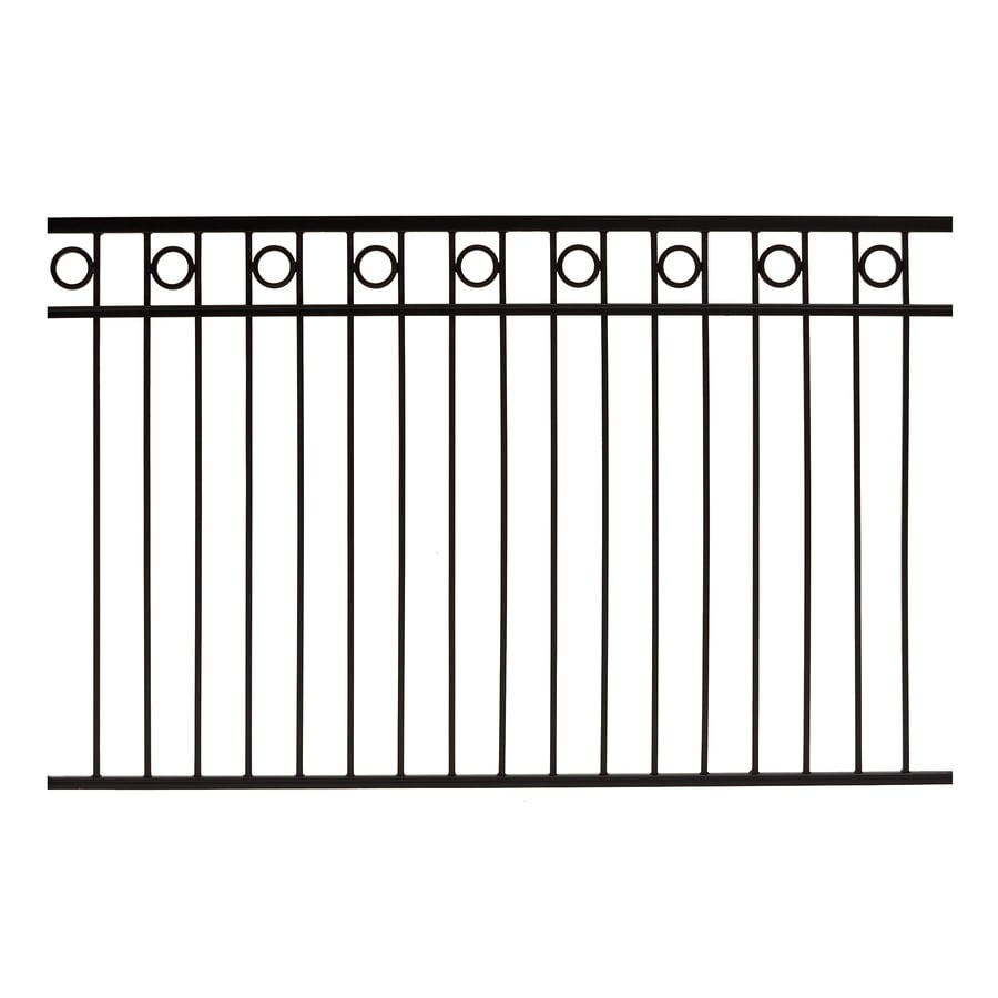 Gilpin (Actual: 3.75-ft x 6-ft) Deco Black Steel Decorative Fence Panel
