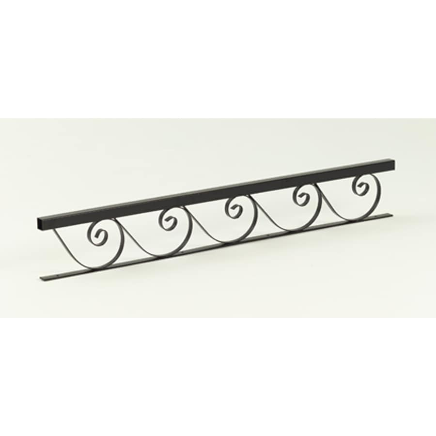 Gilpin 7-in x 72-in Black Steel Porch Rail