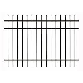 Gilpin Castlegate Standard 3 Ft H X 6 Ft W Black Aluminum Pressed Point Decorative Fence Panel In The Metal Fence Panels Department At Lowes Com