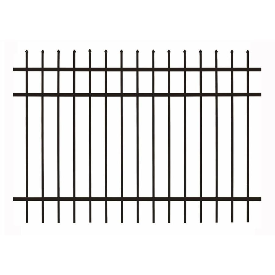 Gilpin (Common: 5-ft x 6-ft; Actual: 5-ft x 5.93-ft) Castlegate Standard Black Aluminum Decorative Fence Panel