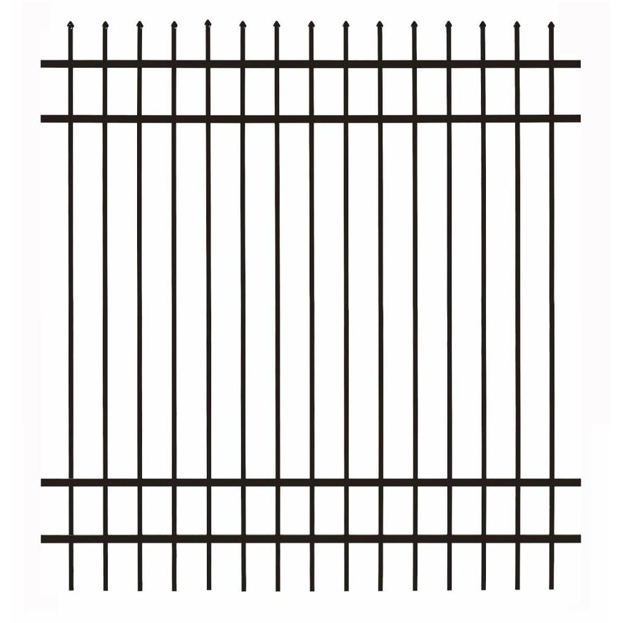 Gilpin (Actual: 6-ft x 5.93-ft) Castlegate Standard Black Aluminum Decorative Fence Panel