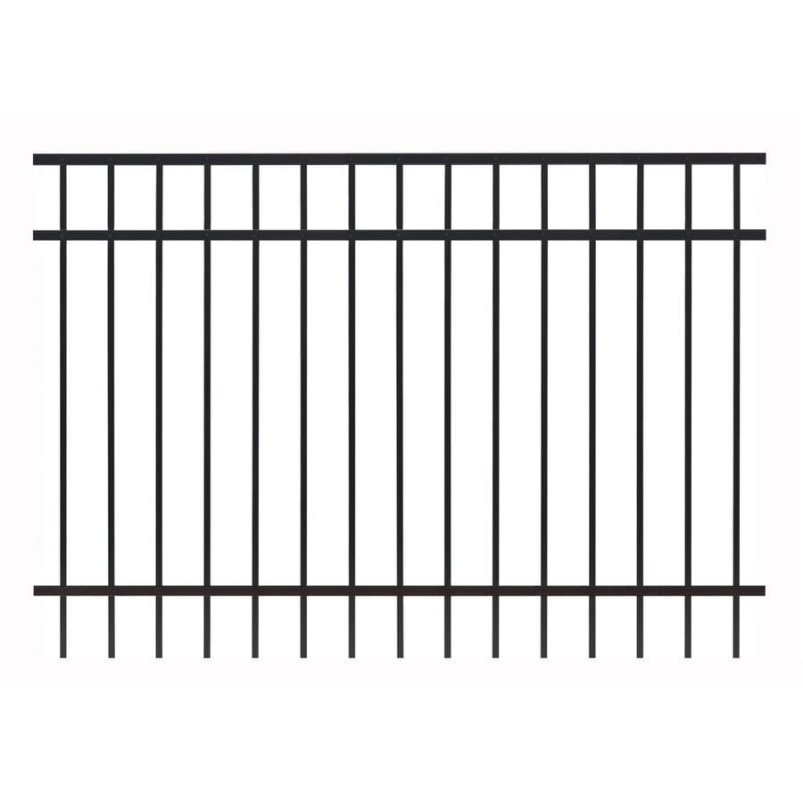 Gilpin (Common: 4-ft x 6-ft; Actual: 4-ft x 5.93-ft) Legacy Standard Black Aluminum Decorative Fence Panel