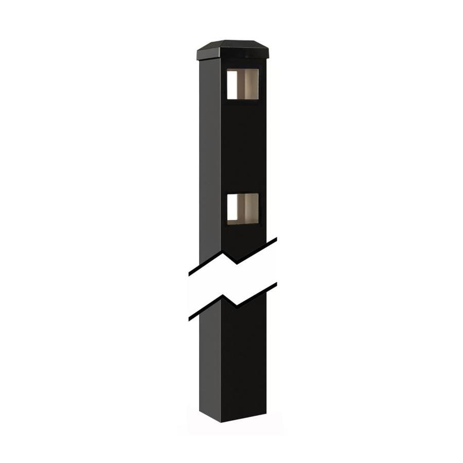 Gilpin (Common: 2-in x 2-in x 4-ft; Actual: 2-in x 2-in x 5.83-ft) Baltimore/Legacy Black Aluminum Line Post