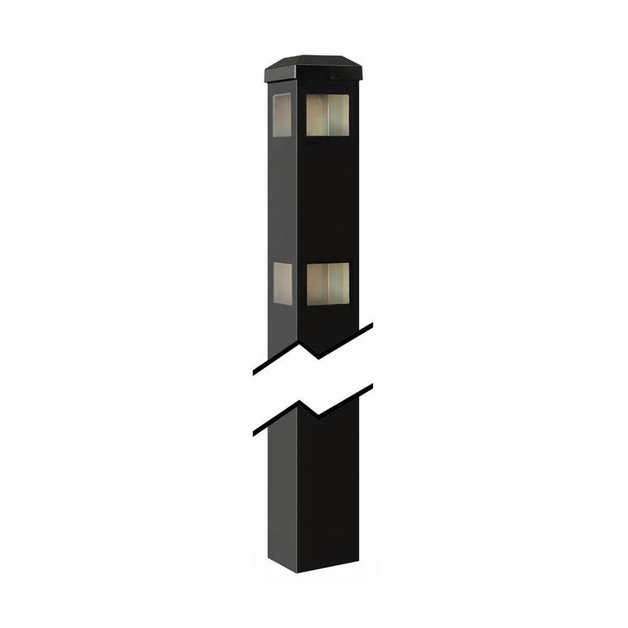 Gilpin (Common: 2-in x 2-in x 5-ft; Actual: 2-in x 2-in x 7.33-ft) Baltimore/Legacy Black Aluminum Decorative Fence Corner Post