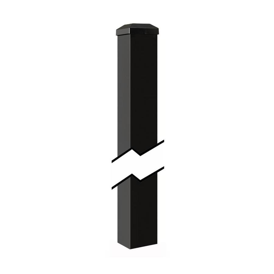 Gilpin (Common: 2-in x 2-in x 4-ft; Actual: 2-in x 2-in x 5.83-ft) Black Aluminum Blank Post