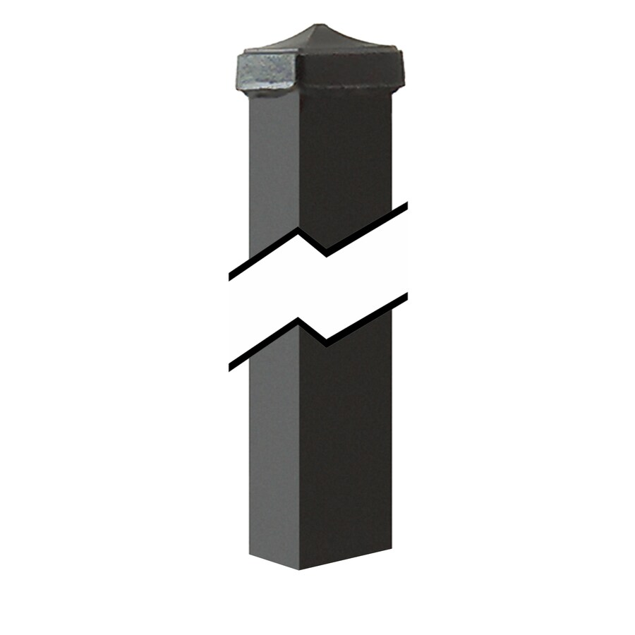 Gilpin Black Steel Decorative Metal Fence Universal Post (Common: 2-in x 2-in x 6-ft; Actual: 2-in x 2-in x 6.00-ft)