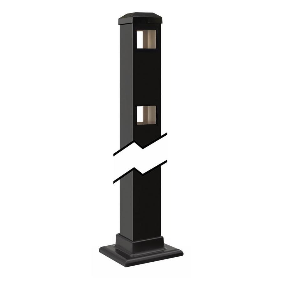 Gilpin (Common: 2-in x 2-in x 3-ft; Actual: 2-in x 2-in x 3.42-ft) Baltimore/Legacy Black Aluminum Decorative Fence Line Post
