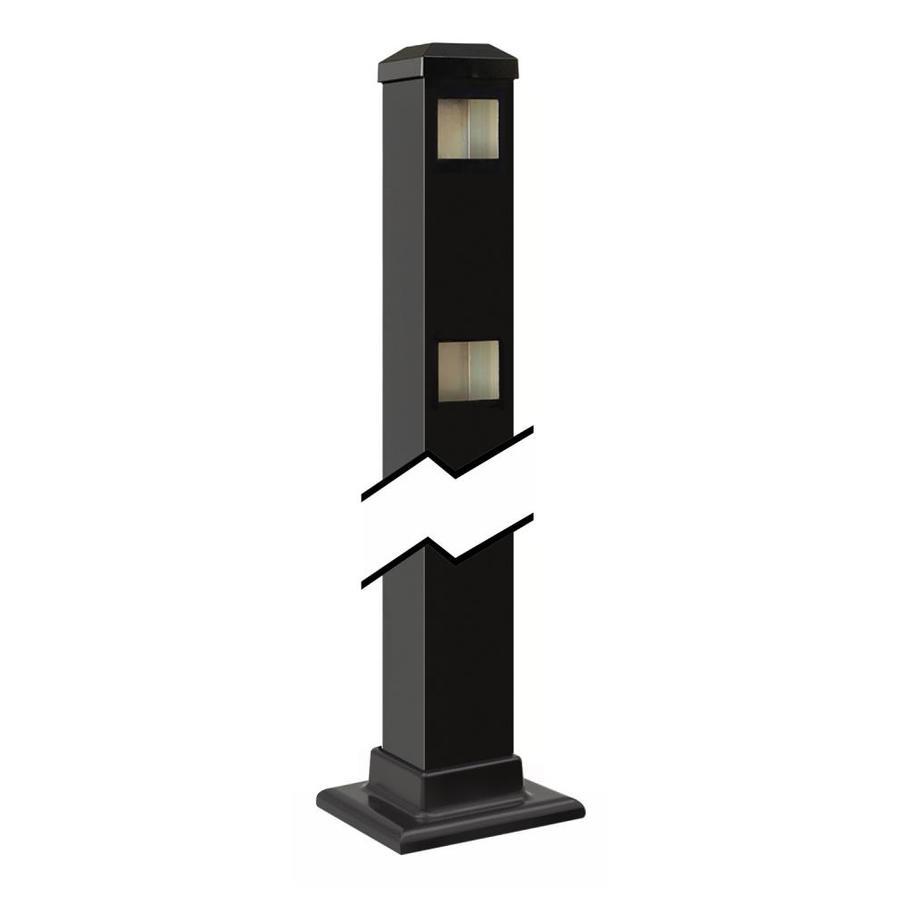 Gilpin (Common: 2-in x 2-in x 3-ft; Actual: 2-in x 2-in x 3.42-ft) Baltimore/Legacy Black Aluminum End Post