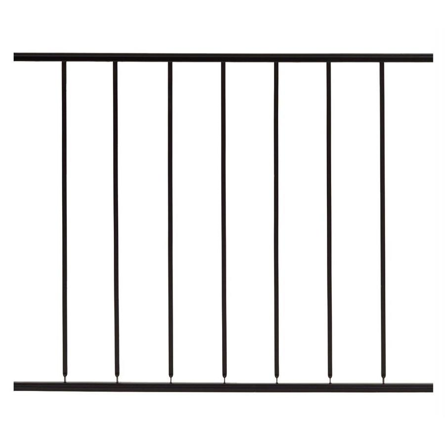 Gilpin (Common: 3-ft x 4-ft; Actual: 2.6666-ft x 4-ft) Embassy Black Steel Decorative Fence Panel